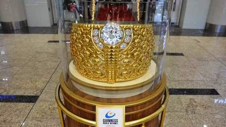 The 21-carat Najmat Taiba (Star of Taiba) weighs almost 64kg.