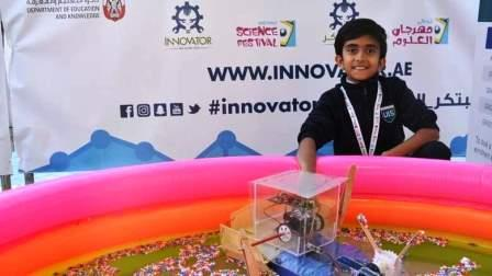 The M-Bot Cleaner removes waste from water surfaces. A Grade-5 student in Abu Dhabi has created a marine cleaner robot that can remove waste from seas and oceans and provide vital protection to marine habitats.