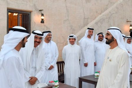 The Vice President and Prime Minister of the UAE and Ruler of Dubai, His Highness Sheikh Mohammed bin Rashid Al Maktoum, received a number of top executives and officials from Dubai government entities who came to congratulate His Highness on the advent