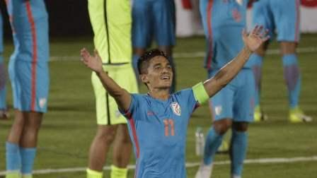 Chhetri scored in the eighth and 29th minutes to hand India a convincing victory.