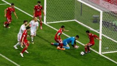 Though Spain had besieged the Iranian goal in the first half, they were on the back foot for parts of the second.