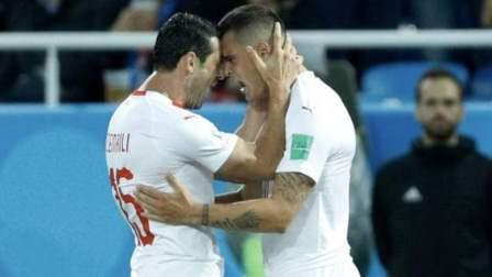 Aleksandar Mitrovic handed Serbia the lead in the fifth minute during the match on Friday.