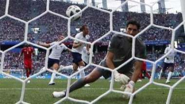The England captain, now the tournament's top scorer with five goals, completed his hat-trick